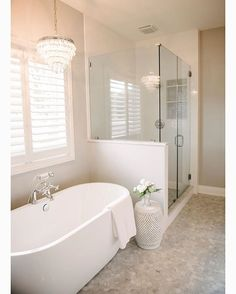 Master Bathroom Goals  This beautiful  room belongs to the talented @kerry.spears #interiordesign #interiordesigner #masterbath