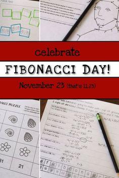 Four great activities to highlight the accomplishments of Fibonacci on Math Teacher, Math Classroom, Teaching Math, Teacher Stuff, Maths, Classroom Ideas, Fun Math Activities, Math Resources, Math Lesson Plans