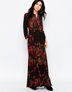 Free People | Free People After Storm Maxi Dress In Black Combo at ASOS