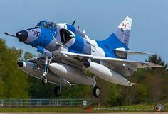 "Wittmund Air Base (ETNT) May 2015 ""Dadio on final Rwy 26 after the last ""hop"" from Prestwick finally to WTM. This is for me the best ""camo"" of all DADS ""Scooters"" and looks fantastic with this blue sky. Airplane Fighter, Fighter Aircraft, Fighter Jets, Military Jets, Military Aircraft, Photo Avion, Douglas Aircraft, Aircraft Painting, Jet Engine"