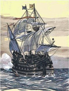 Pirate Ship ~ Counted Cross Stitch Chart #StoneyKnobFarm