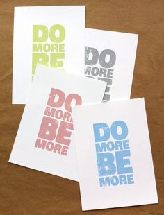 do more be more