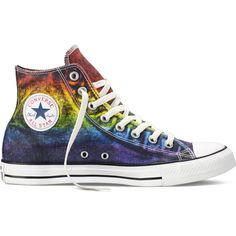 Converse Chuck Taylor All Star Pride – red/yellow/purple Sneakers ($65) ❤ liked on Polyvore