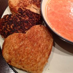 Valentine's Grilled Cheese & Tomato Soup...easy dinner kids love!