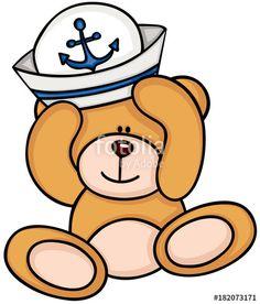 """""""Teddy bear with hat of sailor"""" Imagens e vetores de stock Royalty Free no Fotolia.com - Imagem 182073171"""
