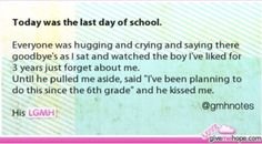 Page 17 - Top Stories - Love Gives Me Hope I live in the same situation and I wish this will happened to me. Except the boy I have liked for the past 3 years is my best friend Cute Love Stories, Sweet Stories, Sad Stories, Kiss Stories, Love Gives Me Hope, Human Kindness, Touching Stories, Faith In Humanity Restored, Last Day Of School