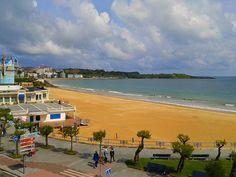 View of Sardinero Beach from the Hotel Silken Rio Santander | Europe a la Carte Travel Blog