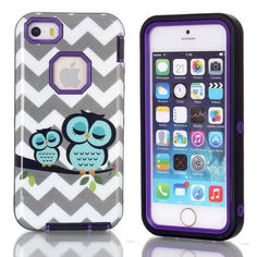 Cute Owl Animal Absorbing 3 in 1 Hybrid Phone Case Starlit Sky Case Cover for iPhone 5C Lovely Case for iPhone 5C Free Shipping