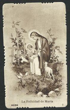 Estampa antigua Divina Pastora andachtsbild santino holy card santini | eBay
