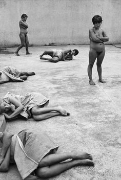 By Jean Gaumy - Psychiatric asylum. Town of Soyapango, Salvador. Authorities claim that 12 million Salvadorians are now suffering from phychological reasons.