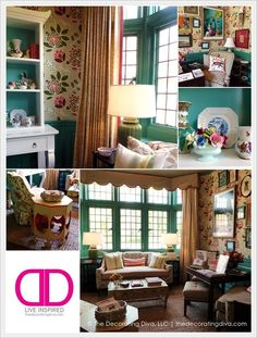 Cheerful, color saturated breakfast room design at Adamsliegh Showhouse by Jason Oliver Nixon and John Locke of Madcap Cottage | The Decorating Diva, LLC