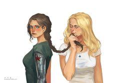 Genderbent Bucky and Steve