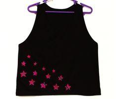 Women's Tshirts, Women's Tops, Trendy Tops, Shirt, Tank Top, Stars T shirt with Peruvian fabric, Andean fabric