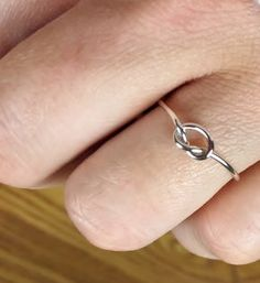 Sterling Silver Knot Ring Love Knot Ring Maid of by ProtoJewelry