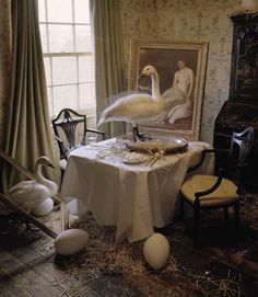 """Come to Dinner"" by Tim Walker for Vogue Italia May 2015 ~ETS #swans"