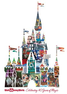 Disney Castle Collage.