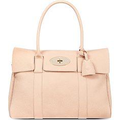 MULBERRY Bayswater soft grain handbag (Ballet pink)  @ Selfridges