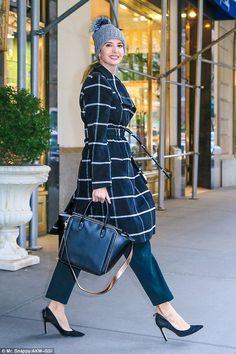 Top off your look with a classic windowpane coat by Ivanka Trump #DailyMail Click 'Visit' to buy now