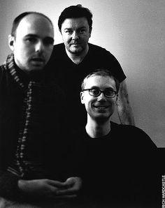 Ricky Gervais, Stephen Merchant, Karl Pilkington - individually hilarious, together genius!!