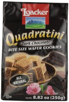 Loacker Quadratini Dark Chocolate Creme Wafer Cookies, 8.82-Ounce Packages (Pack of 8) - http://bestchocolateshop.com/loacker-quadratini-dark-chocolate-creme-wafer-cookies-8-82-ounce-packages-pack-of-8/