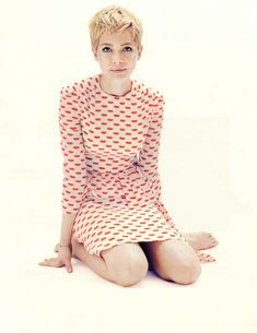 Jean Seberg? Mia Farrow? Not quite... It's Michelle Williams! Photo by Alexei Hay, fashion by Leith Clark.
