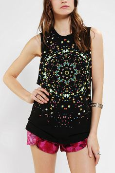 Truly Madly Deeply Kaleidoscope Muscle Tee