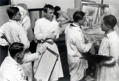 Otto Dix at his life drawing class.