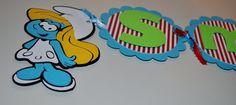 Smurf Birthday Banner