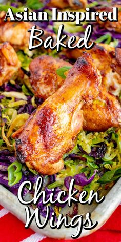 These Asian Inspired Baked Chicken Wings are a simple sheet pan meal. Colorful and full of flavor, your family will love these. Healthy Weeknight Meals, Easy Meals, Asian Seasoning, Great Chicken Recipes, Asian Recipes, Ethnic Recipes, Baked Chicken Wings, Fries In The Oven, Casserole Recipes