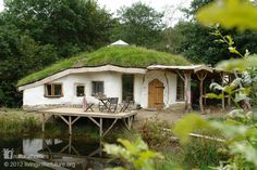 This beautiful home was built by Charlie for his young family with help from Simon Dale, a very well known natural builder. Charlie's home is right next door to the Lammas ecoVillage in Wales where Simon lives. Find out more about this beautiful home at www.naturalhomes.org/charlieshouse.htm