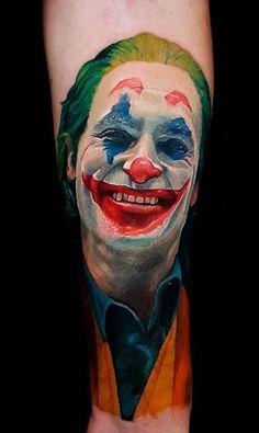 Put on a Happy Face — Joker Tattoo - Wormhole Tattoo 丨 Tattoo Kits, Tattoo machines, Tattoo supplies Batman Comic Art, Joker Art, Joker Pics, Joker Batman, Gotham Batman, Batman Robin, Clown Tattoo, I Tattoo, Joker Tattoos