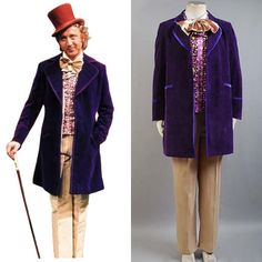 Charlie and the Chocolate Factory Gene Wilder-Willy Wonka Costume Outfit Cosplay#Gene#Wilder#Factory