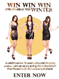"""""""#Win your favourite sequin dress from Oh My Love. Enter here: http://on.fb.me/QxlkJr"""""""