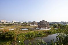 Vo Trong Nghia Architects Channel Bucky Fuller With 8 Communit...