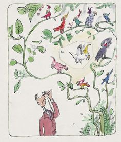 Quentin Blake Cockatoos - absolutely lovely pieces of fresh air in the age of 3D :)