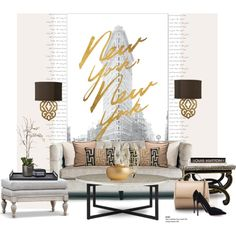 New York with a touch of Africa... by gloriettequartet on Polyvore featuring interior, interiors, interior design, home, home decor, interior decorating, Safavieh, Sia, AERIN and Brunello Cucinelli