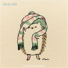 Bildergebnis für nami nishikawa – einfach so - Cartoon Hedgehog Art, Hedgehog Drawing, Cute Hedgehog, Hedgehog Illustration, Cute Illustration, Illustrations Vintage, Dibujos Cute, Oeuvre D'art, Cute Cartoon