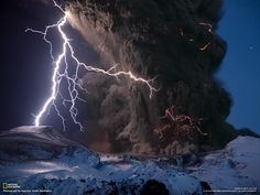 Eyjafjallajkull Volcano / Iceland. By Sigurdur Hrafn Stefnisson. See more here http://news.nationalgeographic.com/news/2010/04/photogalleries/100419-iceland-volcano-lightning-ash-pictures/