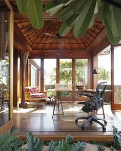 Ryan Associates - New Homes - Mauna Kea Hale - tropical - home office - san francisco - by RYAN ASSOCIATES GENERAL CONTRACTORS