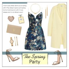 Ready for Spring Parties by ms-mandarinka on Polyvore featuring polyvore fashion style Zimmermann Jil Sander Stuart Weitzman Yves Saint Laurent Carelle Michael Kors Jules Smith Chanel clothing