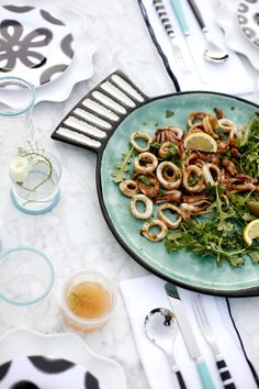 pan-seared calamari recipe / coco+kelley