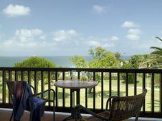 #parador de #mazagon #bodatreendy terraza con vistas