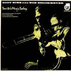 Zoot Sims & Bob Brookmeyer-Tonite's Music Today, label: Storyville STLP 907 (1956) Design: Burt Goldblatt.