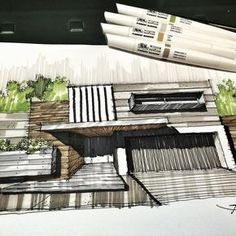 "740 Me gusta, 5 comentarios - @gallardo.arquitectura en Instagram: ""Sketch of the Day !! G/A @winsorandnewton . If you need an Architectural Project, please contact Us…"""