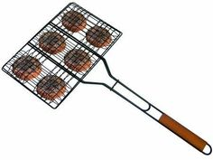 "Get Your Score on our ""Taxi"" Tournament Board to Win this Grill Pro Non-Stick Hamburger Broiler! http://www.play2shop.com/tournaments.htm  9 Inch by 13-1/2-Inch. Non-Stick cooking surface. Soft grip rubber handle. No more trying to flip the burgers and having them fall through the cracks of the grill. http://www.play2shop.com/tournaments.htm"