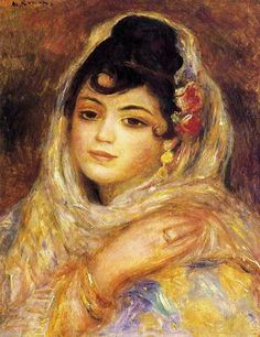 Pierre Auguste Renoir Algerian Woman - The Largest Art reproductions Center In Our website. Low Wholesale Prices Great Pricing Quality Hand paintings for salePierre Auguste Renoir Art Gallery, Renoir Paintings, Painter, Painting, Renoir Art, Painting Reproductions, Artwork, Portrait, Artwork Painting