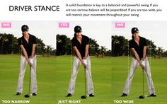 Yes, we need a wider stance with a driver. I see many players either too narrow or sporting that mile-wide stance. Slightly wider than shoulder width is optimal!