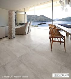 Walker Zanger concrete look tile Large Floor Tiles, Modern Floor Tiles, Grey Floor Tiles, Grey Flooring, Living Room Flooring, Kitchen Flooring, Concrete Look Tile, Polished Concrete Tiles, House Tiles