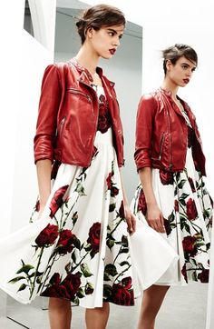 This look is IT for fall. Dolce&Gabbana Washed Nappa Leather Moto Jacket available at #Nordstrom