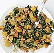 Butternut Squash with Spinach, Raisins, and Pine Nuts